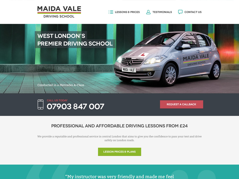 Maida Vale Driving School mobile design